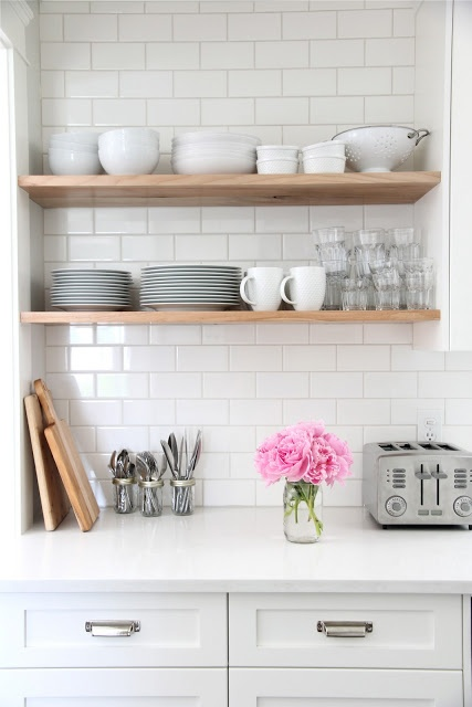 Simple Subway Backsplash Standard 3x6 White Subway Tile The Ceiling Behind The Open Shelves And Around The Kitchen Window Small Room Decorating Ideas,Living Room Light Blue Green Wall Paint