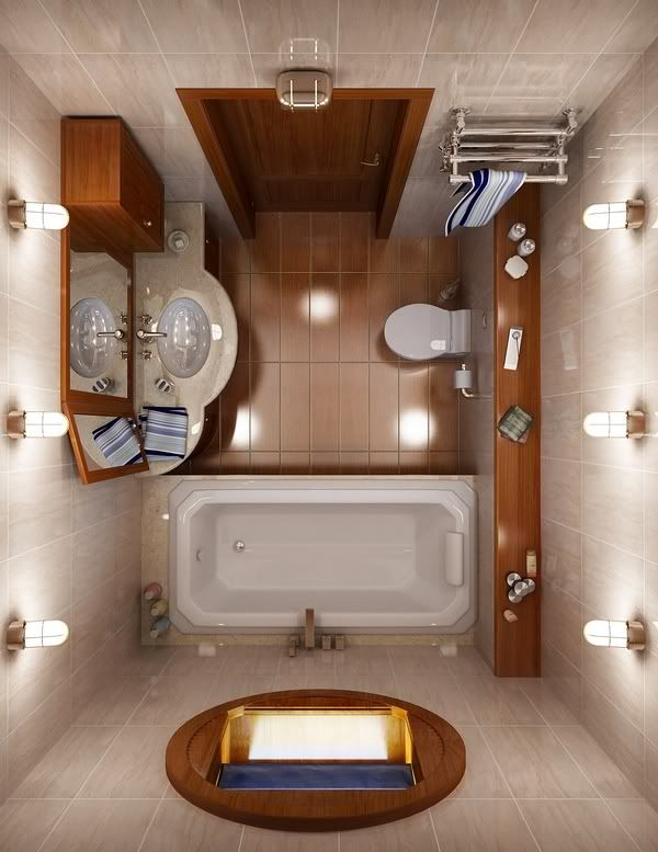 30 Small Bathroom Floor Plans Ideas