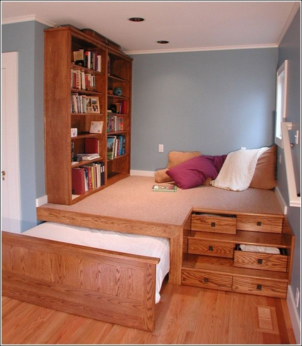Awesome Space Saving Ideas Small Bedroom Decorating Room