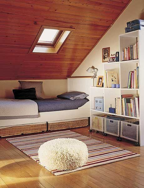 Colorful Design Small Attic Bedroom Ideas Pictures