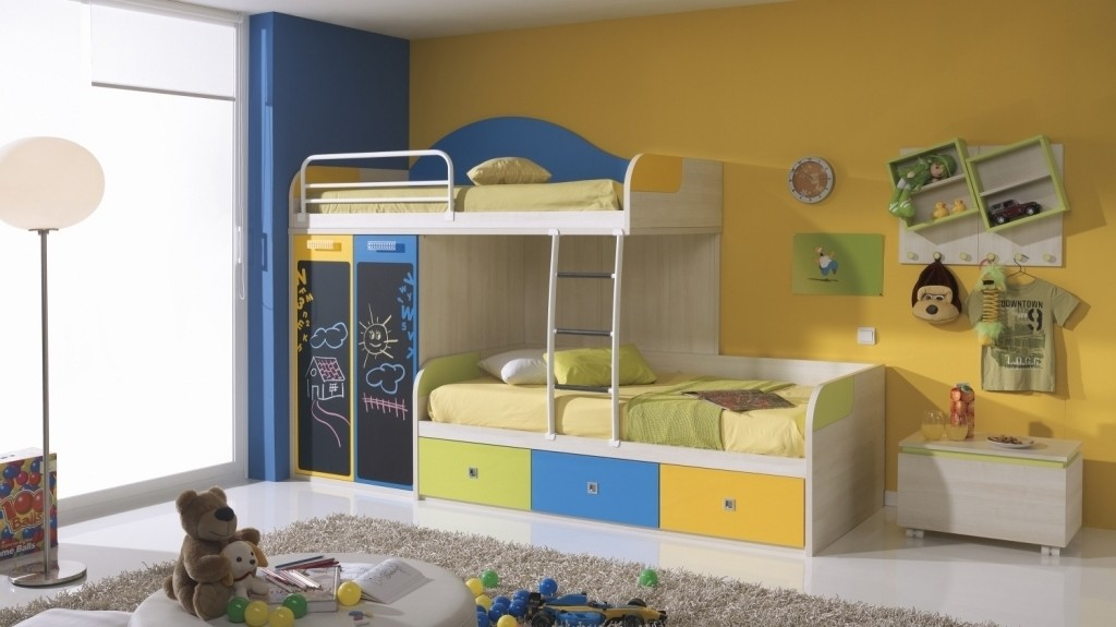 Gorgeous Small Cabin Beds Kids Bedroom Design Ideas With White Bedside Table And Contemporary Steinless Steel Stand Lamp