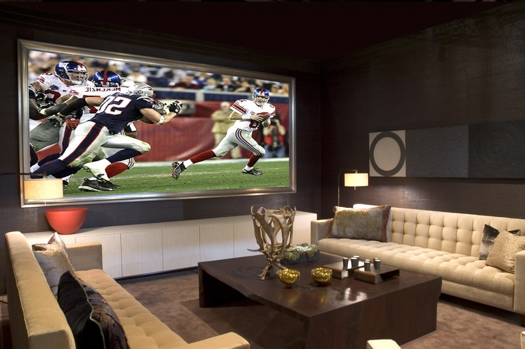 Great Small Media Room Ideas Decorating Living Room Apartments Cottage Brown Wall Colors