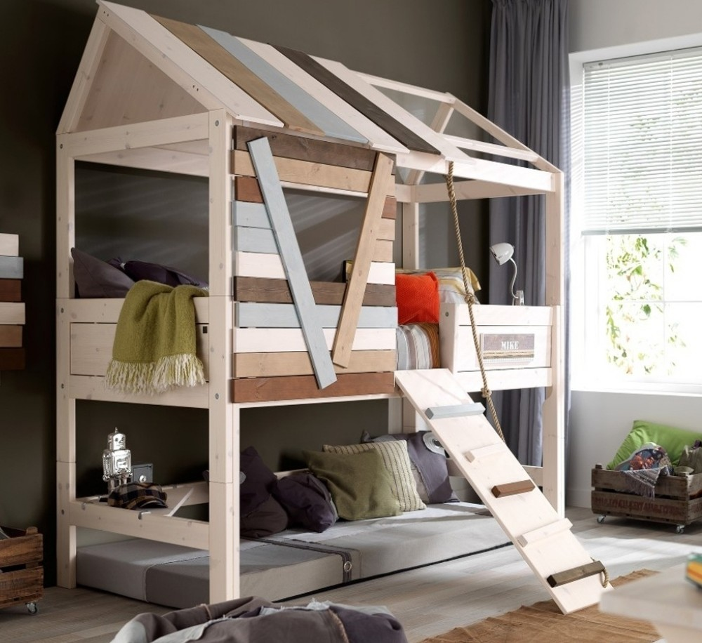 Marvelous Small Cabin Beds High Treehouse Bed Wooden Furniture Children Bedroom