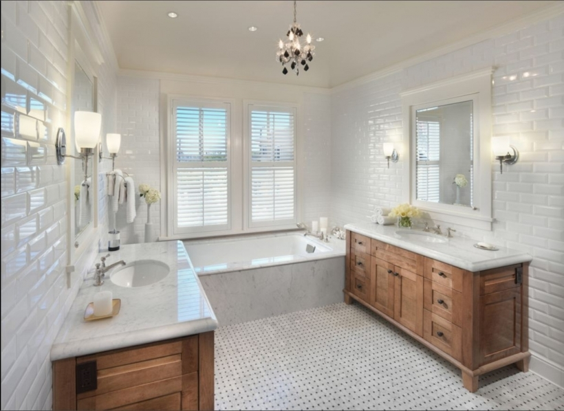 Amazing Small Bathroom Remodeling Subway Tile Beveled White Subway Tile