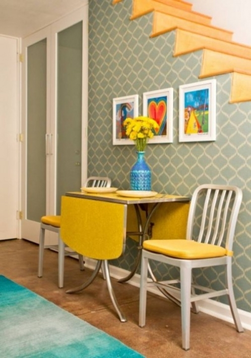 Drop Leaf Kitchen Tables For Small Spaces Yellow 979