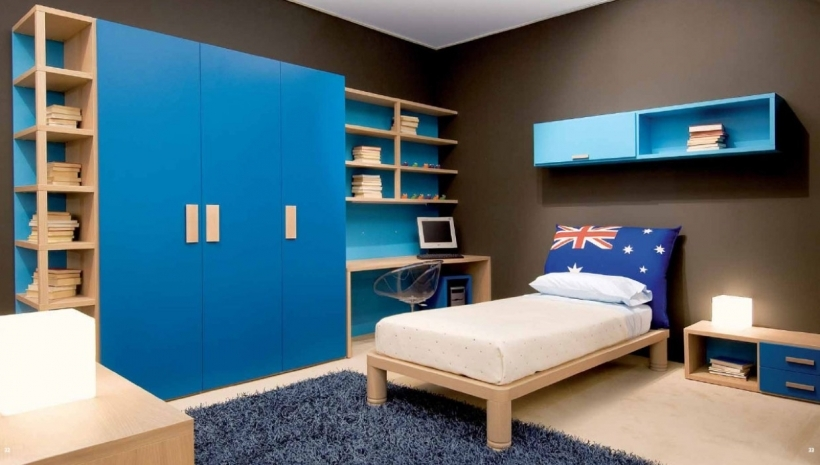 Small Bedroom Paint Color Schemes Blue And Dark Gray Ideas