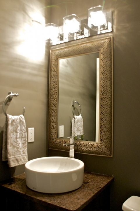 Small Powder Room Decorating Ideas Awesome Wall Lights With Rectangular Framed Mirror Ideas 205