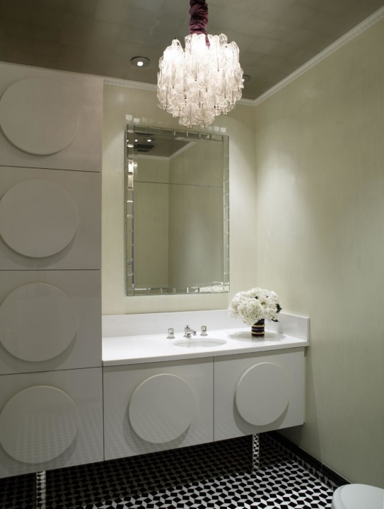 Small Powder Room Decorating Ideas Lovely Square Chrome Mirror Frames Over Single Bowl Sink 130
