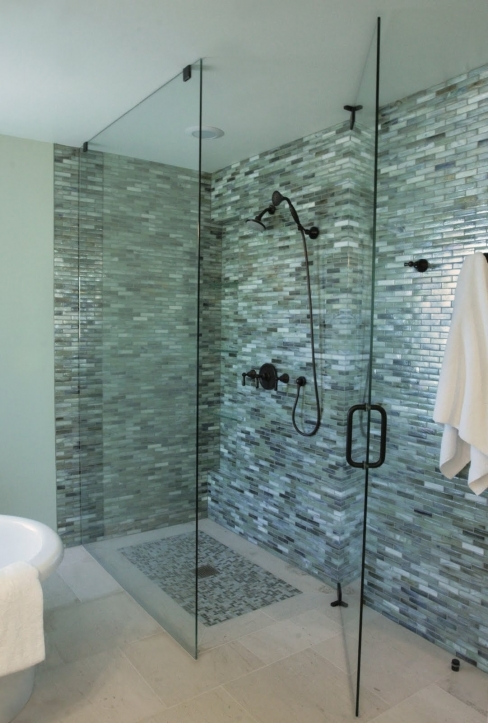 Bathroom Wall Tile Ideas With Glass Shower For Small Bathroom Designs