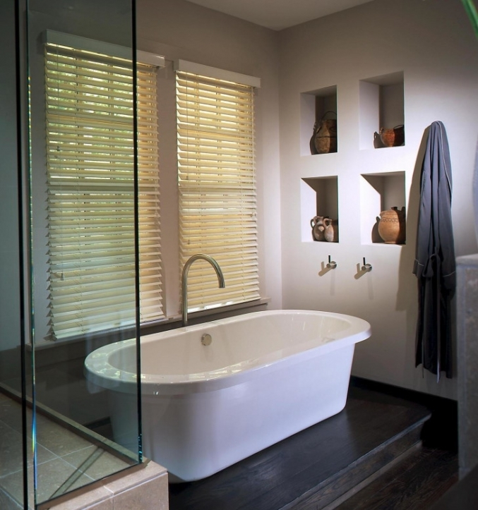 Freestanding Bathtubs Small Spaces Excellent White Standing Tub And White Wooden Shutter Window Bathrooms 5936