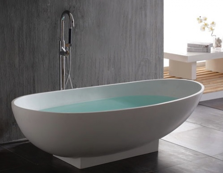Freestanding Bathtubs Small Spaces Great SignatureHardware Kaya Freestanding Resin Tub 3892