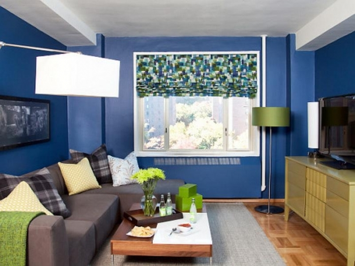 Paint Color Ideas For Small Living Room Within Charming Blue Decor Modern Living Room Painting Ideas 2161