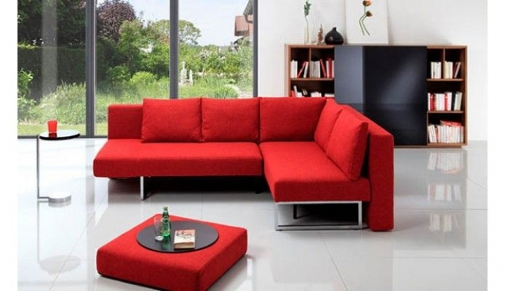 Red Sectional Sofa Bed For Small Spaces Within Astonishing Contemporary Design Versatile And Simple 4585