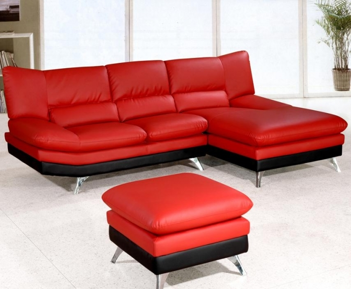 Red Sectional Sofa Bed For Small Spaces Within Beautiful Small Modern Leather Ideas 2753