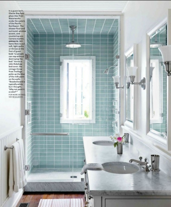 Subway Tile For Small Bathroom Remodeling Ideas Blue Subway Tile Shower 4816
