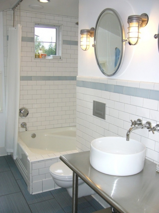 Subway Tile For Small Bathroom Remodeling Ideas Design White Bathroom Style 0644