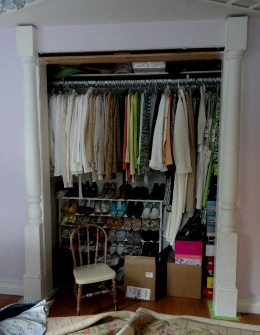 Small Closet Organizing Ideas With Unique Chair Pics