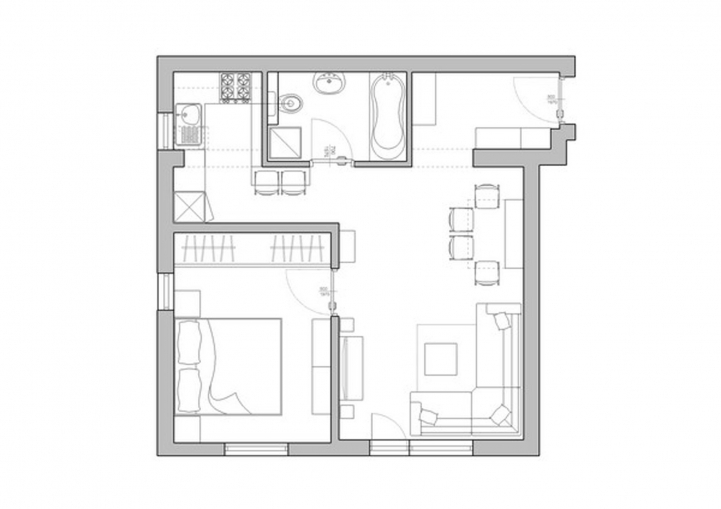Small Studio Apartment Layout Interior Design Plans