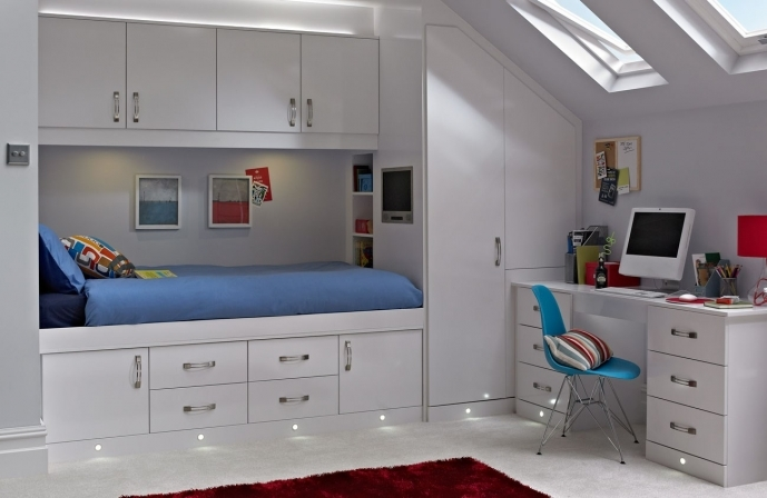 Built In Bedroom Furniture For Small Rooms Inside Charming Cassia White Room  25