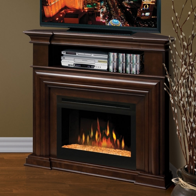 Small Corner Electric Fireplace Tv Stand Enthralling Motgomery Tv Media Dimplex 74
