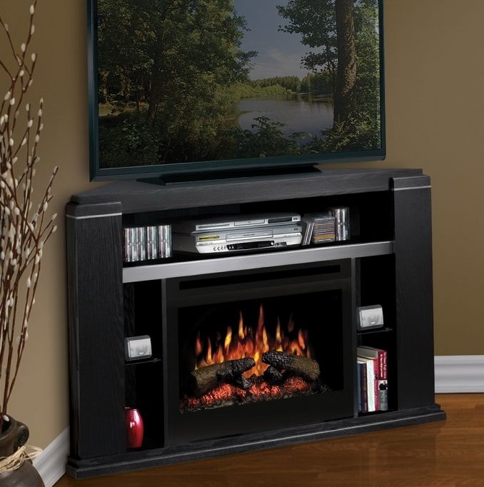 Small Corner Electric Fireplace Tv Stand Home Furniture Design Ideas 78