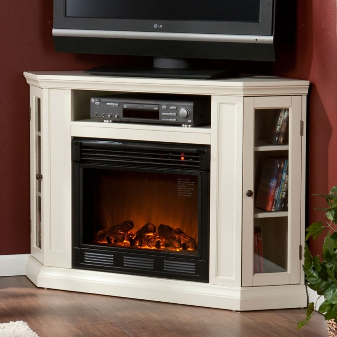 Small Corner Electric Fireplace Tv Stand Ponoma Tvmedia Wh HandM37 51