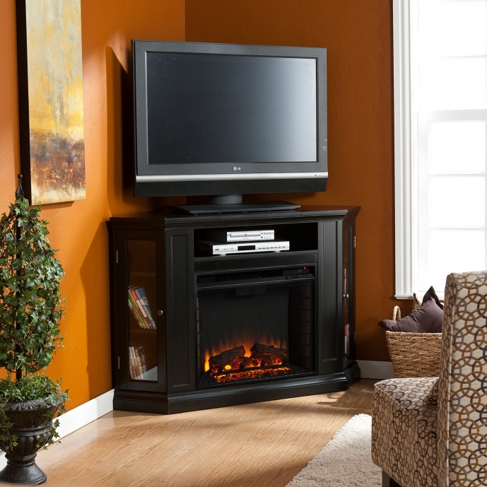 Small Corner Electric Fireplace Tv Stand Wildon Home 14