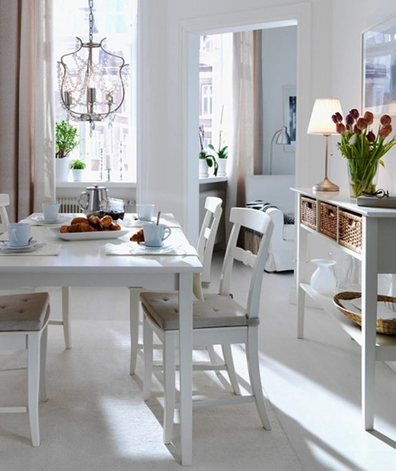 Small Dining Room Decorating Ideas Home Decor White Furniture Pic 12