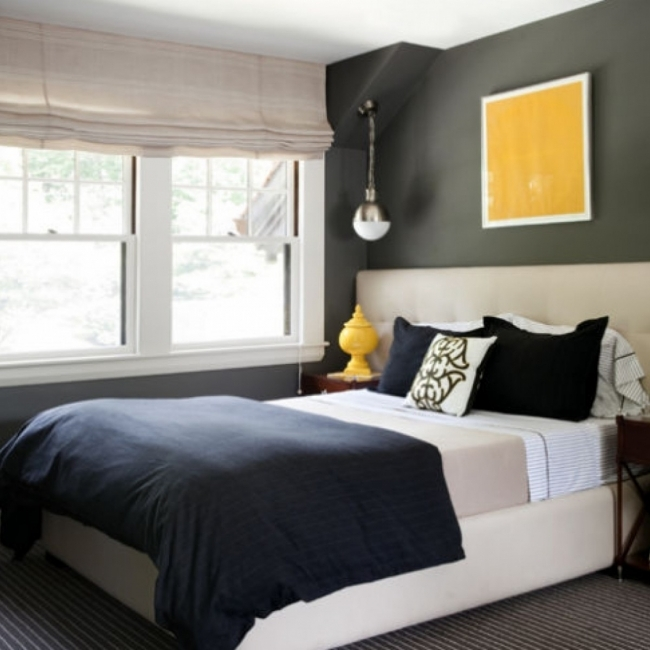 best colors for small bedroom dark color scheme gray paint color Picture 37