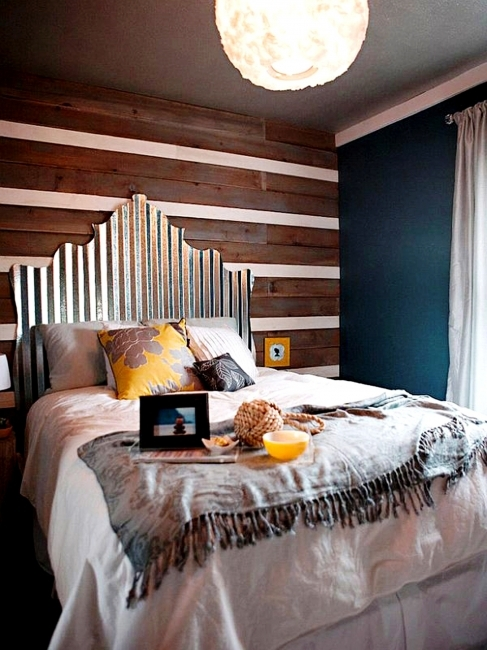 best colors for small bedroom interior blue wall room plus brown wooden wall panel Photos 53
