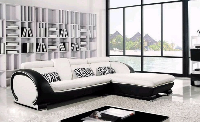 Modern Leather Sectional Small Room Furniture