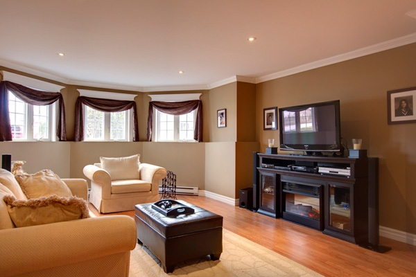 Living Room Paint Color Ideas With Dark Brown Furniture Images 04 Small Room Decorating Ideas