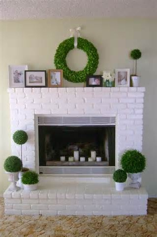 painting brick fireplace lowes pictures 03
