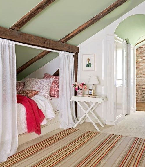 Small Space Attic Bedroom, Guest Bed That's Tucked Away In A Lovely Little Corner Of The House Pictures