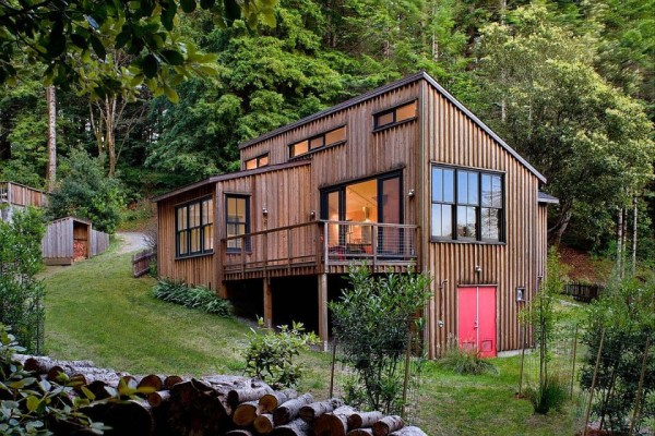 Modern Small Rustic Cabin Plans Redwoods Cottage Cabin ...