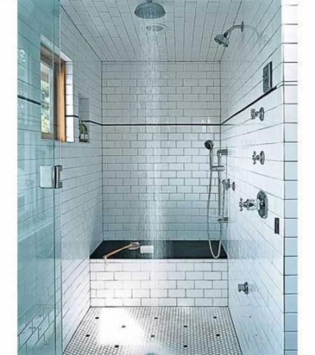 Charming Small Bathroom Remodeling Subway Tile Narrow Bathroom With Glass Door White Subway Tile Walls