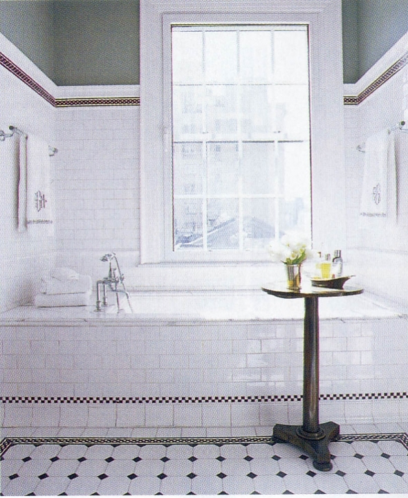 Fascinating Small Bathroom Remodeling Subway Tile Decor