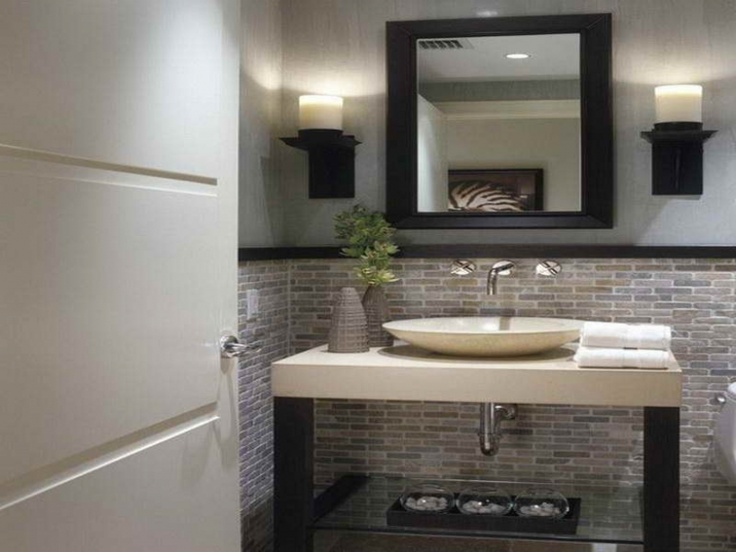Small Powder Room Decorating Ideas Charming Modern White Top Bowl Single Sink On Console Vanities Table 549