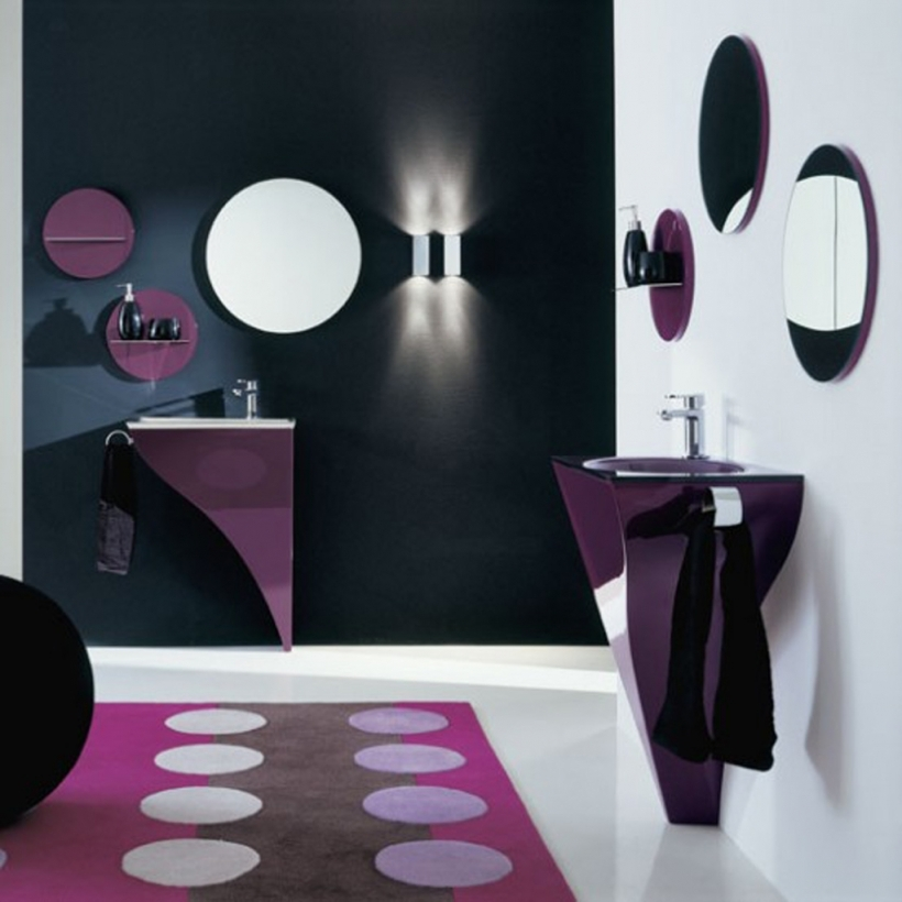 Small Powder Room Decorating Ideas Wonderful Small Decorative Mirror And Attractive Simple Color 504