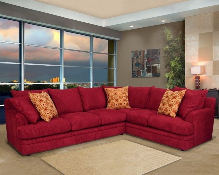 Red Sectional Sofa Bed For Small Spaces With Charming Fabric L Shaped Sectional Sofa Bed Living Room And Bay Window 3518