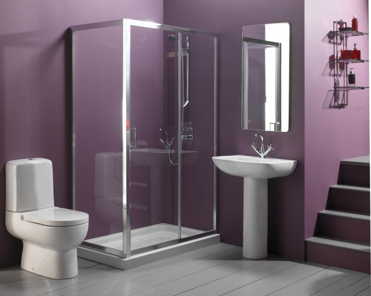 Small Bathroom Paint Colors With Awesome Purple Color Modern Home Design 1428