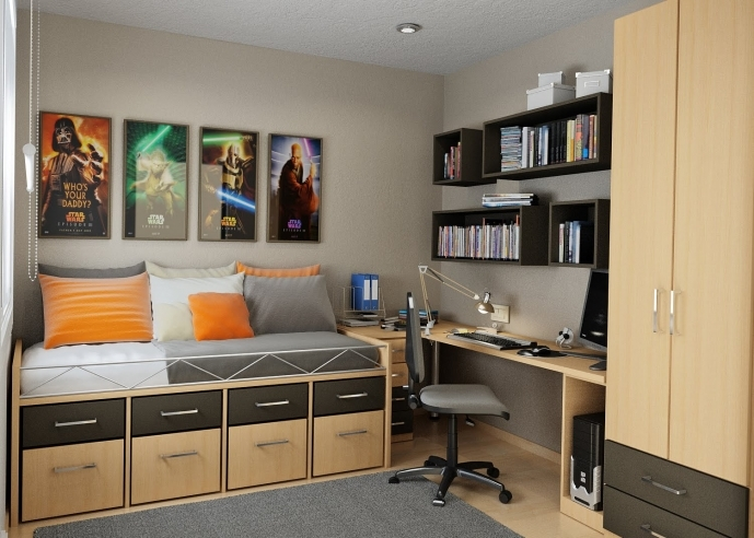 Cupboard Designs For Small Rooms Inside Delightful Bedroom Interior For Kids Ideas With Wall Mounted Black Bookcase 1914