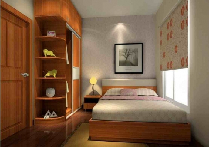 Cupboard Designs For Small Rooms Within Comfy Contemporary Small Bedroom Design Ideas 5717