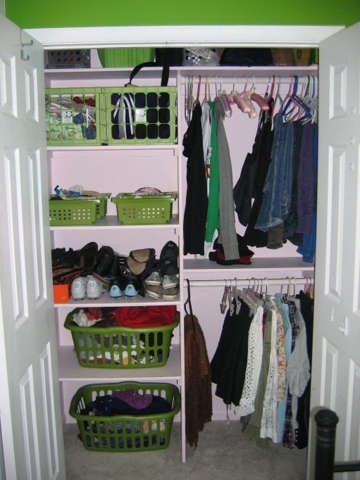 Small Closet Ideas Showing The Storages On The Bedroom Decor Pictures