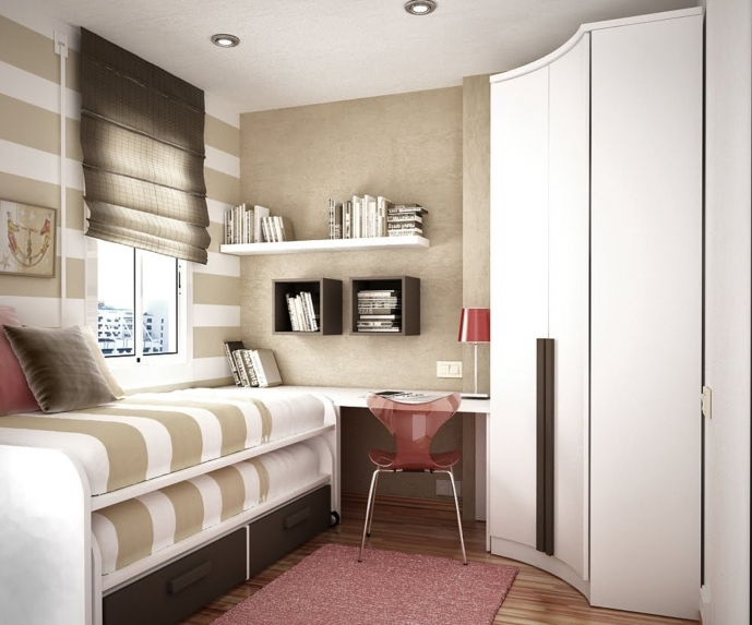 Bedroom Built In Furniture For Small Rooms With Marvelous Decoration Two Level Beds With Cool Floating Book Shelves 97