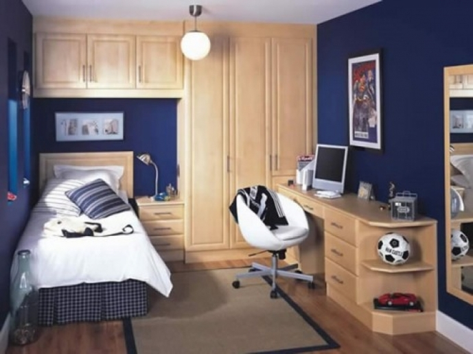 Built In Bedroom Furniture For Small Rooms Regarding Marvelous Childrens Bedroom Ideas With Blue Wall 79
