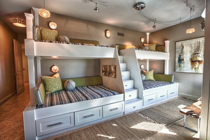 Built In Bedroom Furniture For Small Rooms With Attractive White Wooden And Space Saving Bunk Beds 89