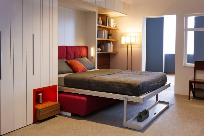 Built In Bedroom Furniture For Small Rooms Within Delightful Horizontal Murphy Bed Cheap Furniture Space Saving 39