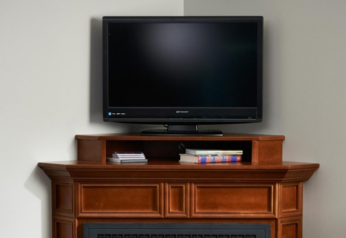 Small Corner Electric Fireplace Tv Stand Colombia Corner Cabinet TV Stand For 34x30 07