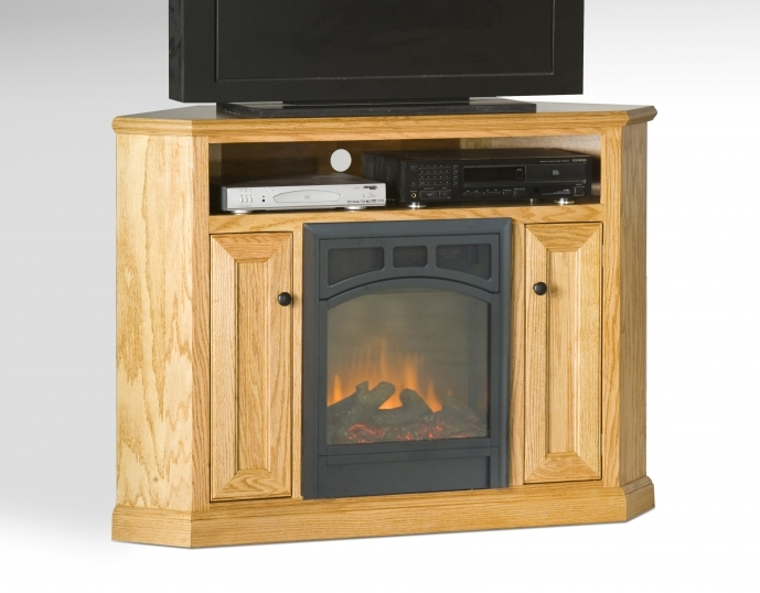 Small Corner Electric Fireplace Tv Stand Maple Wood Lowes 65